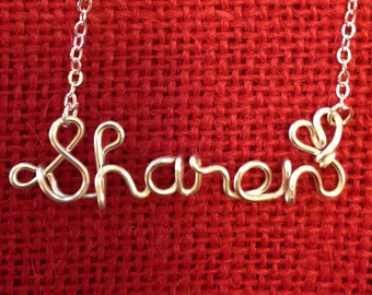 Sharon necklace,Name Necklaces,Personalized wedding jewelery,Birthday gift,Bridesmaid necklace,Custom Name necklace