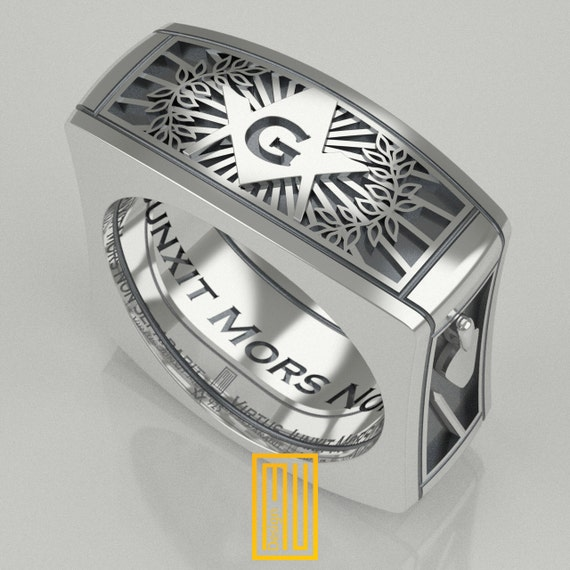 a f m master ring unique design for 925k sterling
