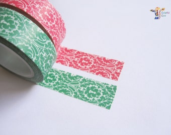 Pink and green washi tape