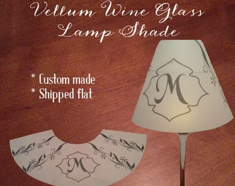 Vellum Custom Made Lamp Shades - Set of 10 - Monogram - Home Decor - Wedding - Baby Shower - Gift - Personalize