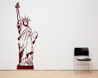 Statue Of Liberty, New York. Vinyl Wall Art Decal Sticker Quote. Any Colour