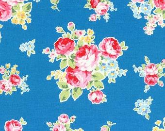 Lecien Flower Sugar Roses Blue (Half metre)