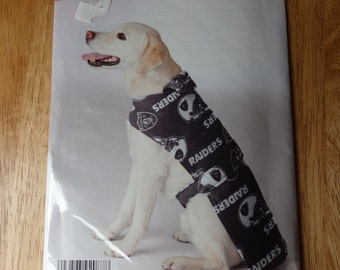 NFL Dog Coat #2087 It's so easy Pattern Never opened