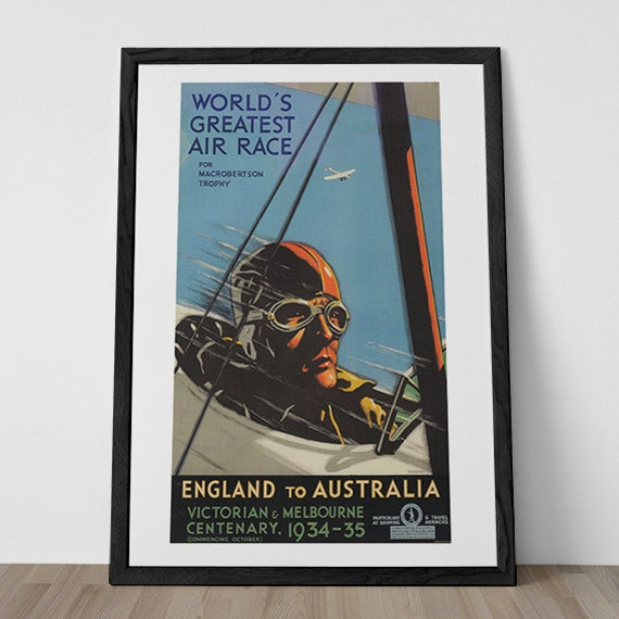 Aviation Poster Airplane Race 1930s Wall Art By