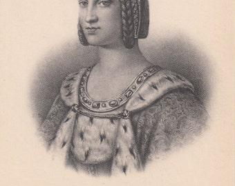 1910 Postcard French Royalty Charlotte de Savoie 1483 Unused Biography Below Image