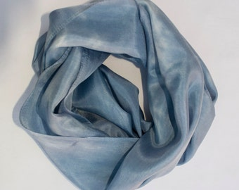Silk Scarf - Hand Dyed (Light Blue)