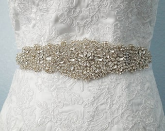 SALE - Wedding Belt, Bridal Belt, Sash Belt, Crystal Rhinestone Belt, Style 110