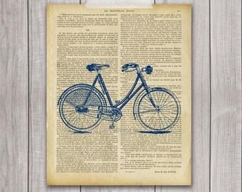 75% OFF SALE - Bicycle Print - 8x10 Bike Print, Bike Vintage, Vintage Print, Bike Decor, Printable Art, Bicycle Art, Bicycle Decor
