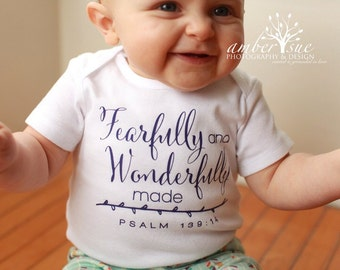 Fearfully and Wonderfully Made Bodysuit - Psalm 139