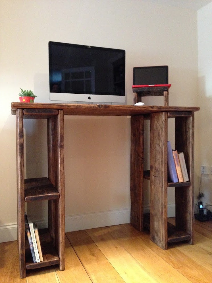 Rustic Standing Desk Reclaimed Wood Any Size By Lovewoodwork