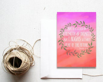 She Is... Proverbs 31:25 -  5x7 printable