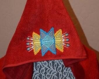 Native American Hooded Towel