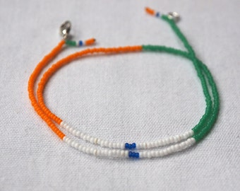 INDIA * beaded wristband flag * handmade in Berlin * for him and her
