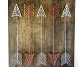 """String Art, Arrow String Art, String Art Sign, """"Full Quiver Arrows"""""""