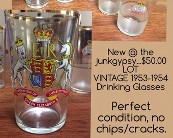 Royal Souvenir Glassware 1953-1954 (set of 5)