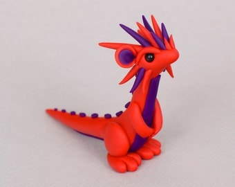 Red and purple dragon.