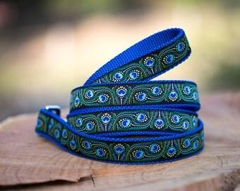 PEACOCK FEATHER Dog Leash / Australian Made /