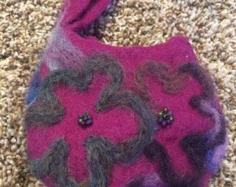 wool wristlet purse
