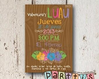 Hawaiian Party Printable Invitation