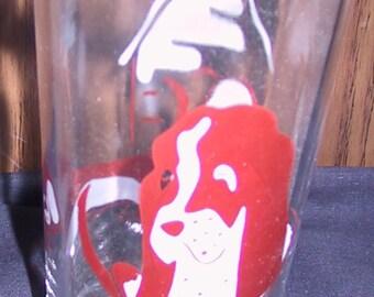 Vintage Dachund Drinking Glass