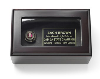 Championship Ring Display Case Box- FREE SHIPPING
