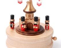Wooden Music Box - Cavalry