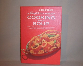 Vntg Campbells Cookbook Cooking With Soup 1974 Spiral Bound Very Clean Crisp