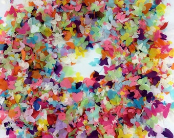 Rainbow Biodegradable Confetti Butterfly Heart & Flower Mix - 1 litre - Fill up to 10 small Confetti Cones