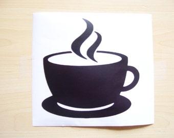 Coffee Cup decal; coffee decal