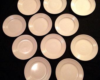 "11 Vintage Mainstays 10.5"" ARTIC WHITE Dinner Plate 8929377"