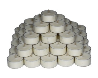 100 Soy Tealight Candles - Unscented
