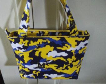 University of Michigan Camo Handbag