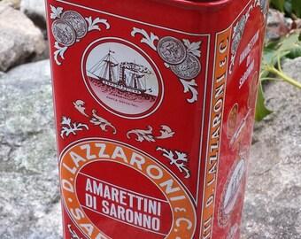 Vintage Metal Tin - Amarettini Di Saronno Milano