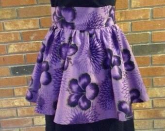 Vintage Cute and Flirty 1980's purple hostess apron