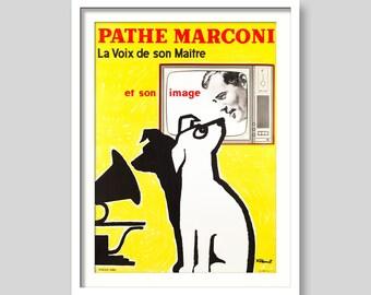 Pathe Marconi Vintage Poster