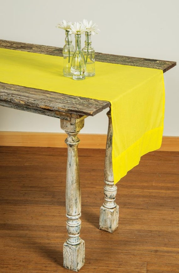 Buttercup Yellow Rustic Table Runner Table Linen by  : il570xN698760271bu91 from etsy.com size 570 x 869 jpeg 97kB