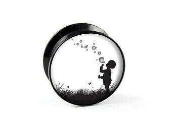 Plug soap bubbles