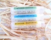 Organic Lip Balm / Coconut Oil Lip Balm / Beeswax lip balm / Organic Lip Balm
