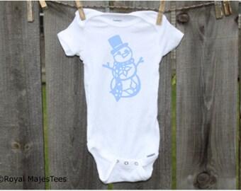 Snowman Onesies®, Christmas baby, Winter baby