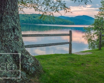Down to the Lake - Vermont Landscape Photo Art Print