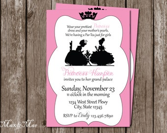 Princess Tea Party Invitation, Dress Up Birthday Invitation, Tea Party Invitation, Digital File
