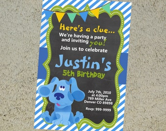 Printable Blues Clues Birthday Invitation Blues Clues Invitation Blues Clues Invite