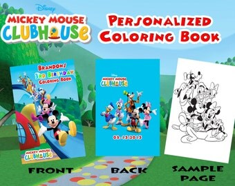 Mickey Mouse Club House Birthday Personalized Coloring Book