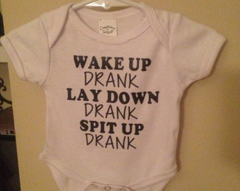 Funny Onesie- Sizes available in 0-12mths