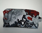 Sale Ready To Ship    Medium Asian Inspired Temple Knitting & Crochet Project/Toiletry Box Bag