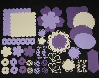 Purple Photo Mats Scrapbook Die Cuts Paper Die Cuts Die Cut Shapes Die Cuts Scrapbook Shapes Scrapbook Supplies Photo Mats Scrapbooks