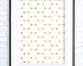 White and Gold Pattern, Instant Download Printable, Gold  Wall Decor, Circles Art Print, Circles Print, Circles Wall Art