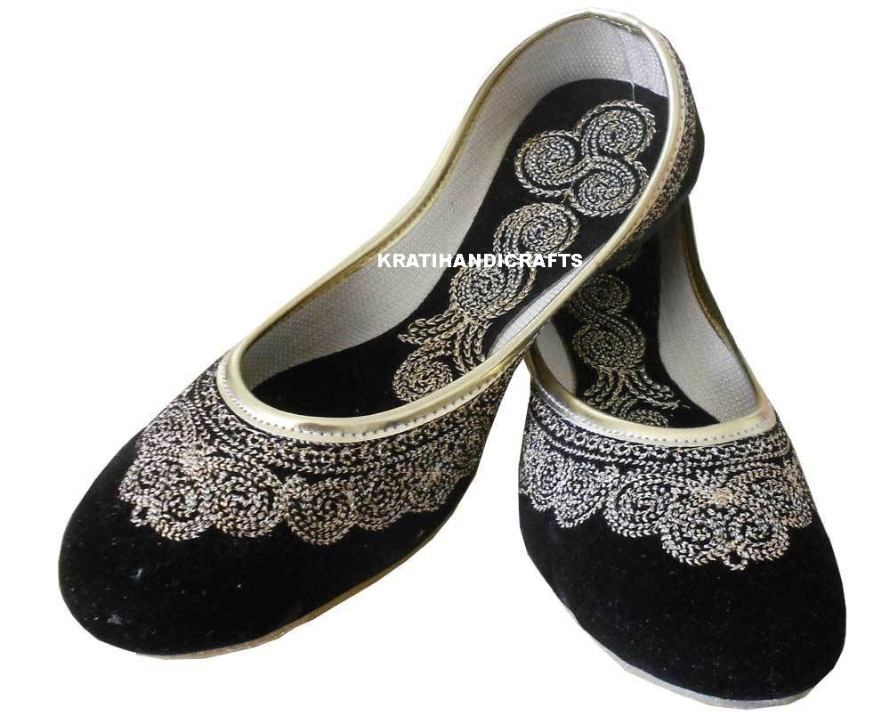 Cool These Are Indian Beaded Khussa Designer Shoes For The Womens These Are Traditional Indian ShoesThese Are Very Soft And Comfortable Shoesthese Shoes Are Also Wear With Matching Designer DressThese Shoes Are Available In Sizes 6