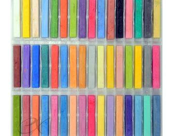 48 Soft Drawing Chalk Pastels; Brilliant Colors; Quality Chalk Pastels