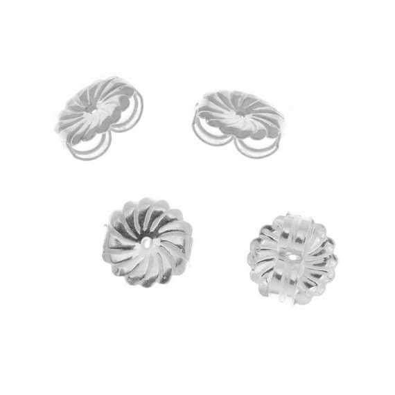 sterling silver earring backs nuts protectors 4 pieces